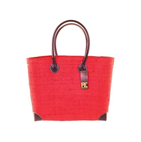 CH Trading Tasche Umhängetasche Korbtasche HANGARA in Rot Größe: XL