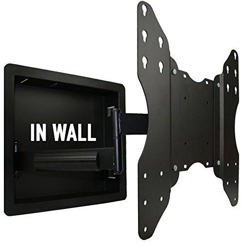 In Wand Einbauleuchte Full Motion TV-Halterung mit Zero Platz für 32bis 139,7cm TV LCD-, LED-, oder Plasma-verlängert 48,3cm