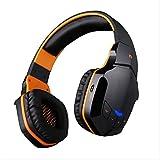 Wireless-Bluetooth-Headset PC, Laptop, Musik-Handy-Headset Sport-Spiele , black orange