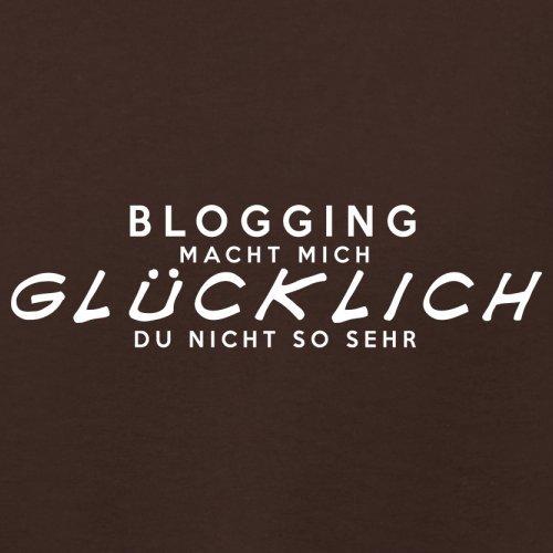 Blogging macht mich glücklich - Damen T-Shirt - 14 Farben Dunkles Schokobraun
