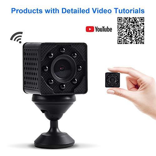 WiMaker WiFi Mini-Kamera, HD 1080P WLAN tragbare kleine Überwachungskamera mit Bewegungserkennung, Nachtsicht, Remote-Monitor und Ansicht für iPhone/Android-Telefon/iPad/PC