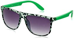 Joe Black Wayfarer Sunglasses (Green Animal Print) (JBj485|C9)