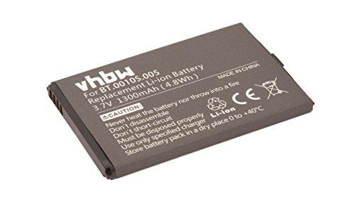 vhbw Batteria 1300mAh compatibile con Acer Liquid Mini E310, E