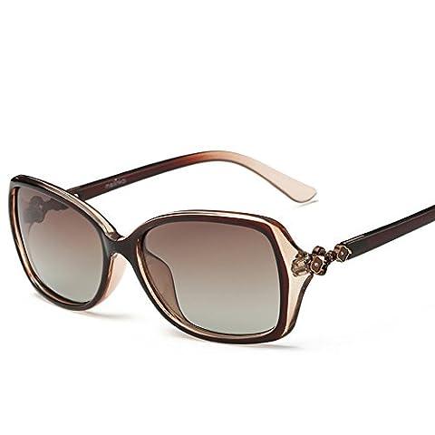 Frau kleine Box Sonnenbrillen/Retro-Mode polarisierte Sonnenbrille/Treibende Sonnenbrillen-D