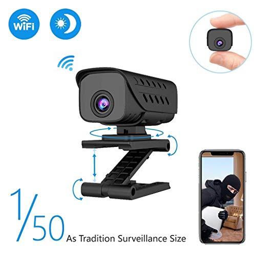 Mumuj Mini Kamera, Wireless WiFi Kamera Mikro Videokamera 1080P HD Nachtsicht Camcorder 90 Grad Echtzeiterkennung mit Standfuß Home Security Recorder Infrarot Kamera Maximale Kapazität 128 GB 120 Dvr-software