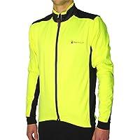 More Mile Piu Miglia Bari giallo fluorescente Soft Shell-Giacca da