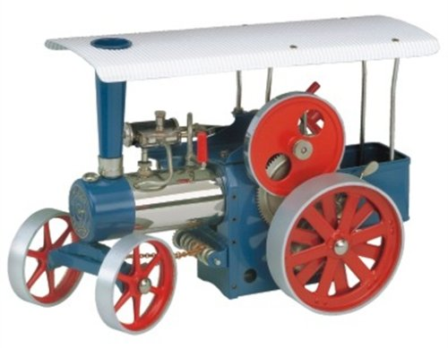 00415 - Wilesco D 415 - Dampftraktor, blau