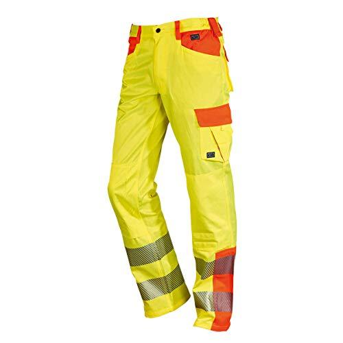 NEU! ELDEE YO-HiViz Bundhose, Warnschutzhose, gelb/orange mit Reflexsteifen, Gr. 48 - 62 (62) - 2013 Neu Baumwolle