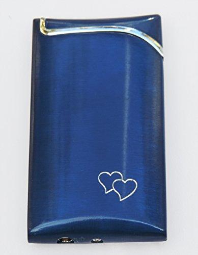GravUp: glänzendes schmales Gasfeuerzeug in rot, blau, schwarz, anthrazit oder grau mit Gravur