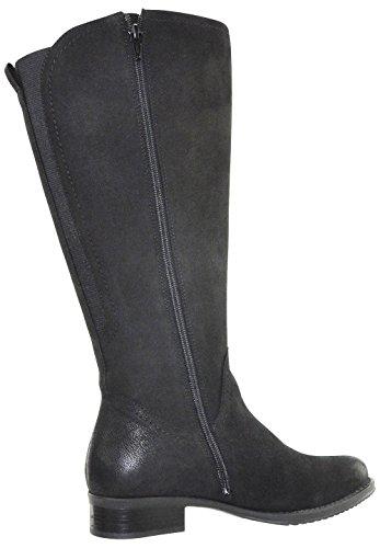 JJ Footwear Damen Stiefel Leder Flensburg M/L Schwarz Cow Grain