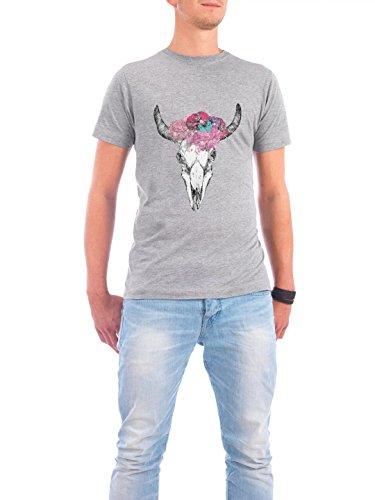 """Design T-Shirt Männer Continental Cotton """"Skull"""" - stylisches Shirt Tiere von Maren Kruth Grau"""