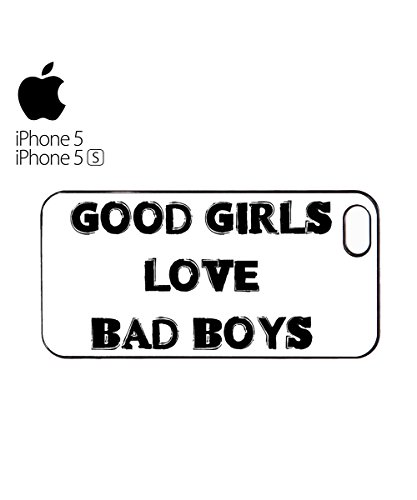Good Girls Love Bad Boys Mobile Cell Phone Case Cover iPhone 6 Plus Black Weiß