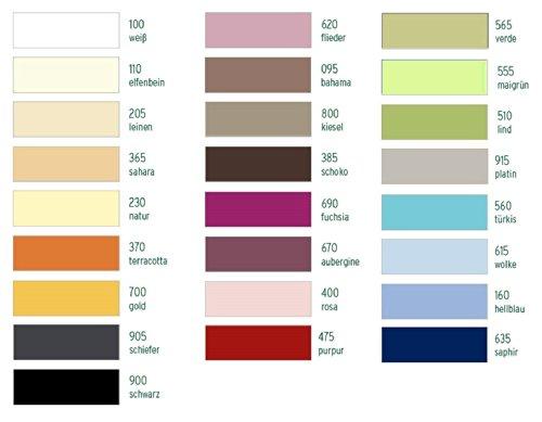 Estella Mako Jersey Nackenrolle Bezug in 25 Uni Farben 15x40 in schoko