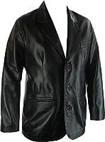 Mens Real Leather Blazer Classic Fashion Coat