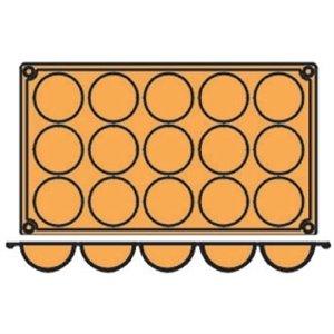 15 halbkugelförmige Silikonbackformen von Pavoni