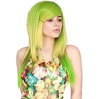Prettyland C1415 - 60cm Megpoid Vocaloid Gumi Sfumatura verde declassato lunga parrucca