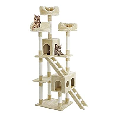 Finether Cat Tree Cat Tower Cat Tree Tower Cat Tree Cat Furniturewith Sisal Covered Scratching Posts/Perches/Platforms and Ladders from Finether