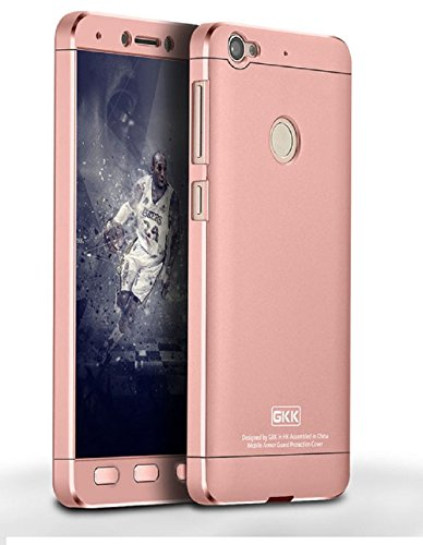 Heartly 3 Pcs Design Double Dip Flip Hard Shell Premium Bumper Back Case Cover For Letv Le 1S / LeEco Le 1s Eco / LeEco Le 1S - Rose Gold  available at amazon for Rs.449