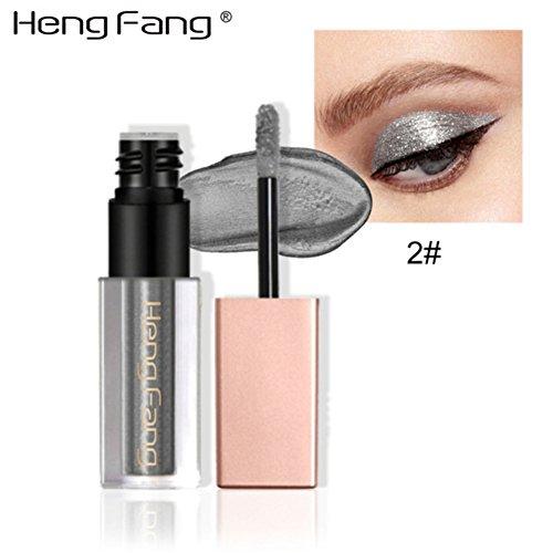 Fard à Paupières Glitter Liquido,ROMANTIC BEAR Trucco impermeabile Shimmer Or Argent Pigmenti luminosi Liquid Eye Eyeliner Stick (A02)