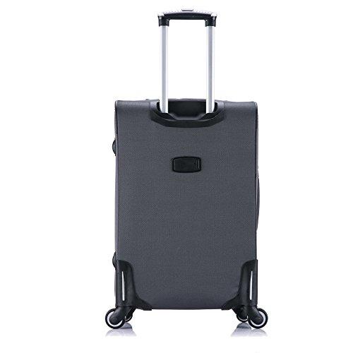 WOLTU RK4214gr-M-a Reise Koffer Trolley mit 4 Rollen , Weichgepäck Reisegepäck , Reisekoffer Stoff 1200D Oxford Weichschale , Handgepäck leicht & günstig , Grau (M, 56 cm & 42 Liter) - 5