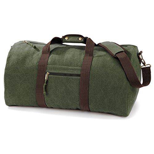 Bag Vintage Canvas- Borsa Vintage tubolare Verde