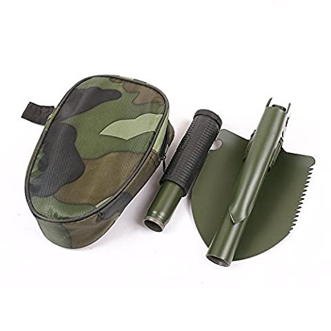 Nonslip Handle Compass Serrated Edge Mini Multi-function Folding Shovel Survival Trowel Dibble Pick Camping Outdoor Tool by Anty-ni