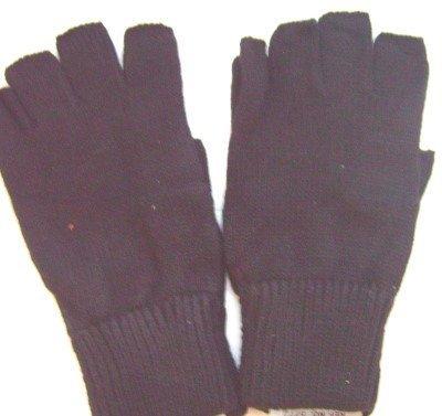 Black Thermal Fingerless Gloves
