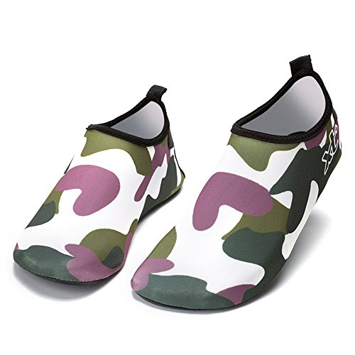Sfit Unisex Wasser Schuhe Camo Drucken Aquaschuhe Barefoot Socken Schnell Trockend Schwimmschuhe Damen Herren Kinder (Socken Camo)
