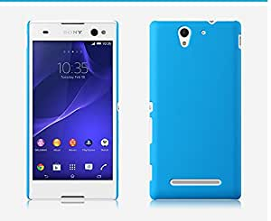 SellNxt Rubberized Coated Matte Hard Back case for Sony Xperia C3 (Sky Blue)