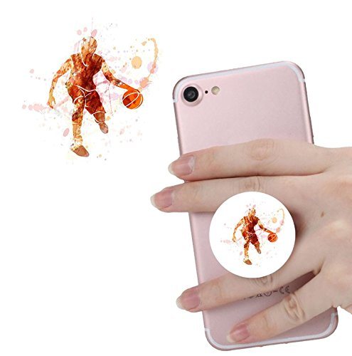 Basketball-telefon (Smart Phone Expansion Ständer und Grip, Pop Expansion Ständer Halterung Universal Finger Halterung mit Anti-Fall Telefon Air Sac Smartphone socket Schr Weiß rose-gold Basketball)