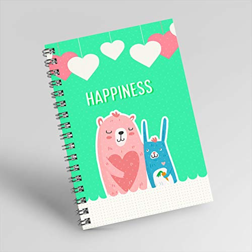 Notebook: 'HAPPINESS', size 6-9 inches, very cute picture, meaningful gift for your girlfriend on Valentine's day. (English Edition)