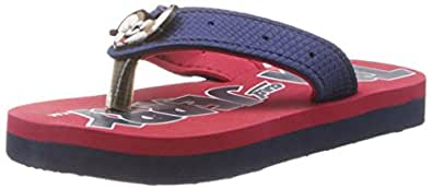Tom and Jerry Boys Simple Navy and Red Flip Flops and House Slippers - 6C UK