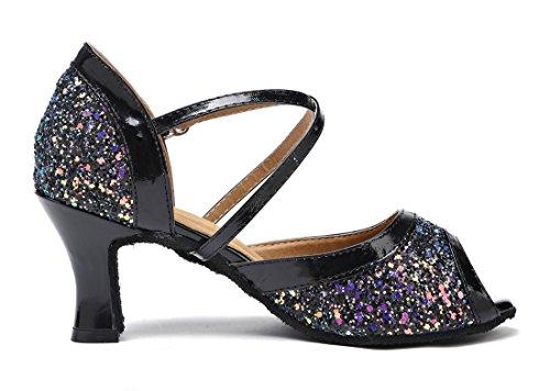 TDA - Peep-Toe donna 7cm Black
