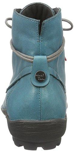 Think! Inua, Bottes courtes avec doublure chaude femme Bleu - Blau (PETROL/KOMBI 88)