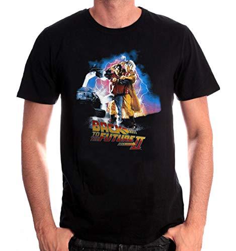 Back to The Future 2 Marty McFly Emmett Brown offiziell Männer T-Shirt Herren (Medium)