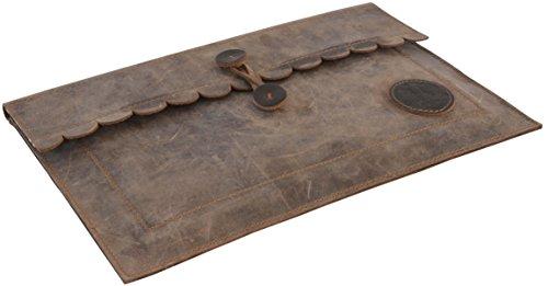 "Gusti Leder studio ""Theodor"" porta tablet Macbook 11"" MacBook-Air iPad documenti in pelle elegante marrone 2L55-17-1"