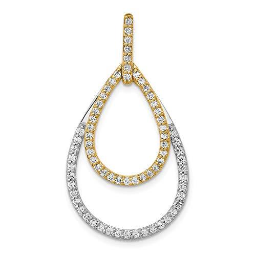 form, 14 kt Diamant zweifarbig ()
