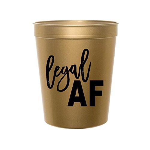 gesetzlichen AF, Gold Cups, 21. Geburtstag, Stadion Tassen, 21. Geburtstag Party Dekoration, Legal AF, Marihuana Legalisierung Party, 18. Geburtstag Party Dekoration