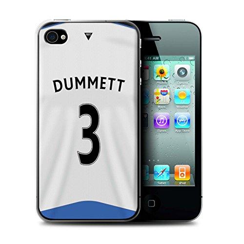Offiziell Newcastle United FC Hülle / Case für Apple iPhone 4/4S / Pack 29pcs Muster / NUFC Trikot Home 15/16 Kollektion Dummett
