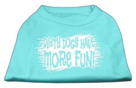 Mirage Pet Products Schmutzige Hunde Screen Print-Shirt Aqua XXXL (20) -
