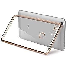 PREVOA ® 丨Xiaomi Mi Max Funda - Transparent Silicona Carcasa Sencillo Claro Crystal Naturaleza Suave TPU para Xiaomi Mi Max - 6.44 pulgadas Smartphone - Oro