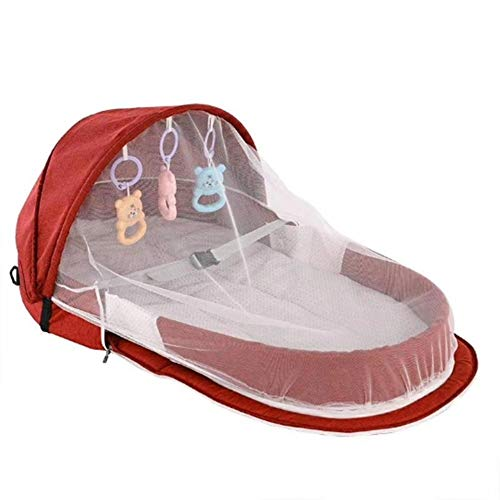 Dadahuam Tragbare Bionic Babybett Mit Moskitonetz Baby Sicherheit Isolation Bett Multifunktions BB Outdoor Reisebetten Klappbett friendly thrifty