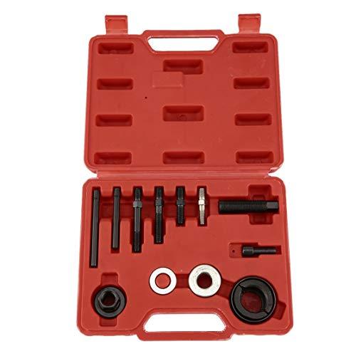 LouiseEvel215 13 unids Automotor de polea Removedor de Extractor y kit de herramientas instalador Removedor de Bomba de dirección asistida Alternador AC polea Instalación de herramienta -