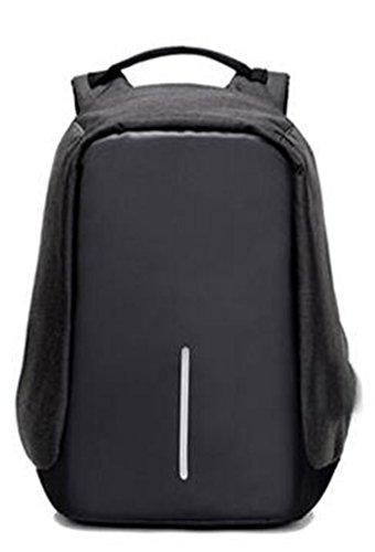 YANFEI Tragbare Anti-Diebstahl-Laptop-Rucksack Mann und Frau Student Taschen Reisen Rucksäcke Mode leichte hohe Kapazität atmungsaktiv , black black