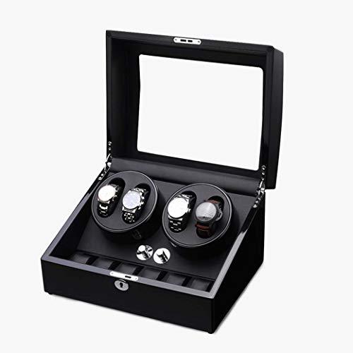 DongYuYuXuXi Wickelmaschine Beobachten, Lagerung Mechanische Uhr Plattenspieler Schaukel Nach Hause Automatische Wicklung Uhrenbox Elektrisch (Color : A)