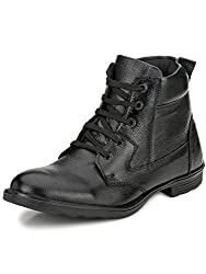 Mactree Mens Black Leather Boots-7033-6