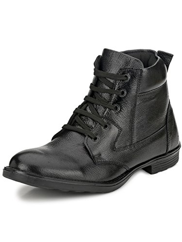 Mactree Men's Black Leather Boots (7033black_6)