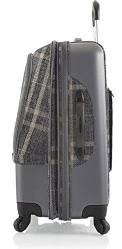 ... 50% SALE ... PREMIUM DESIGNER Hybrid Koffer - Heys Hybrid Spinner Edinburgh Grau/Weiss - Handgepäck Grau/Weiss