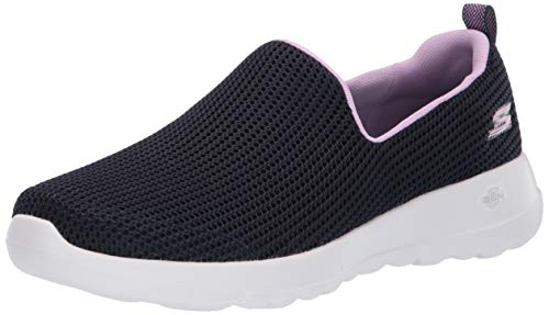 Skechers Damen Go Walk Joy-Centerpiece Slip On Sneaker, Blau (Navy Lavender Nvlv), 40 EU (Skechers Go Walk Damen Navy)