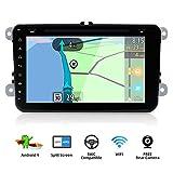 Android 7.14Core 2DIN da 8 pollici, modello WiFi, lettore DVD da auto, navigatore GPS, stereo, supporta MirrorLink/OBD2/Subwoofer/DAB con Canbus